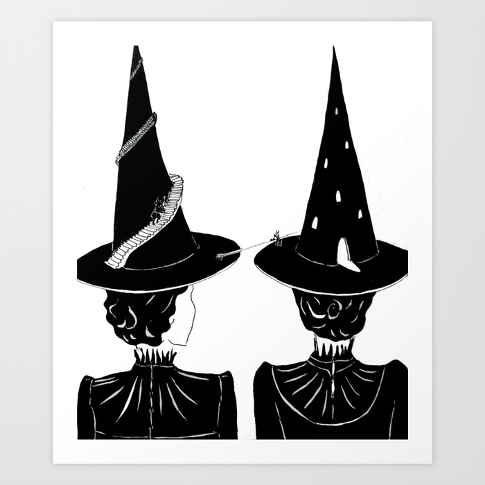Two Witches by Justell Vonk