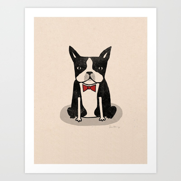 - Boston Terrier print