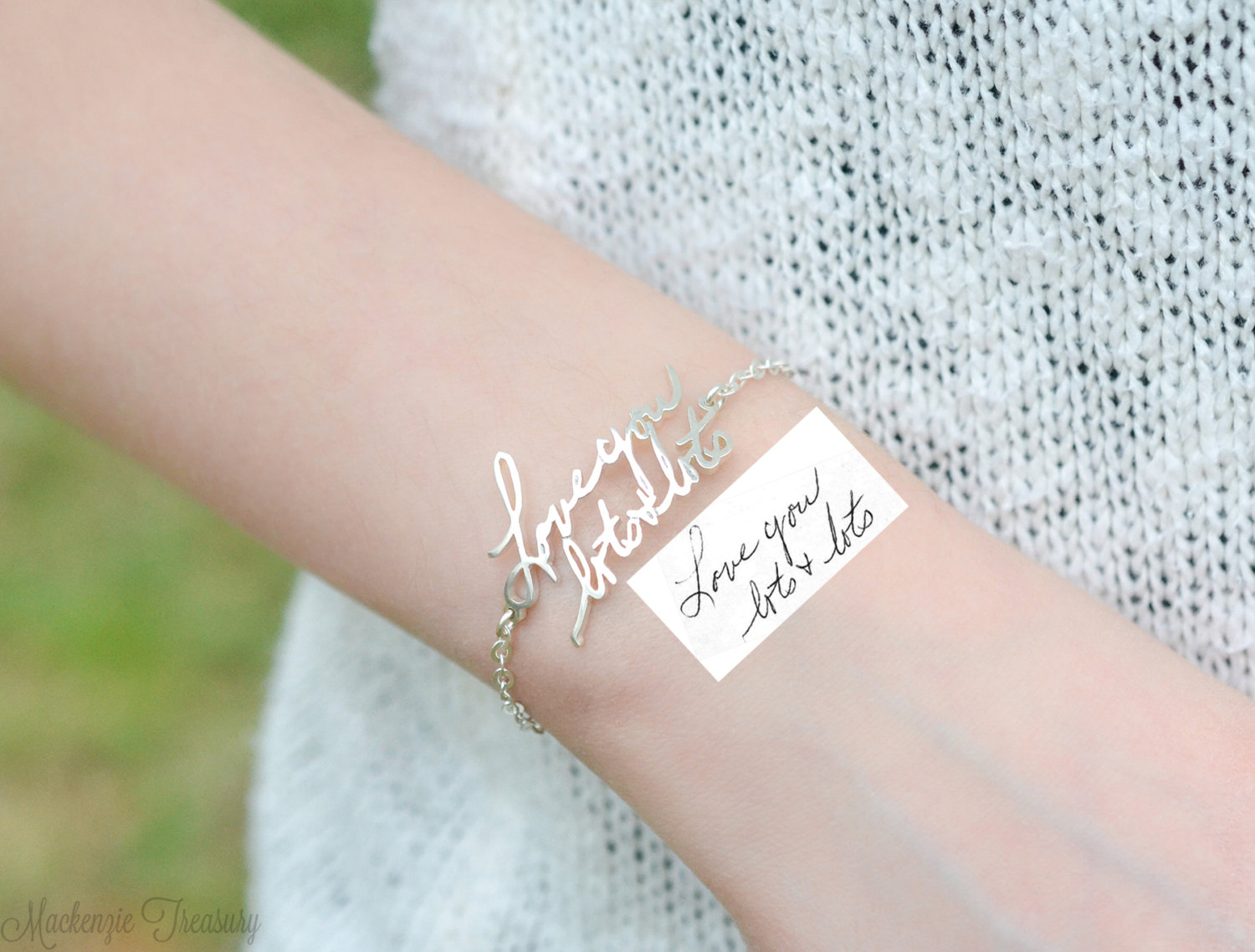 Custom Actual Handwriting Bracelet
