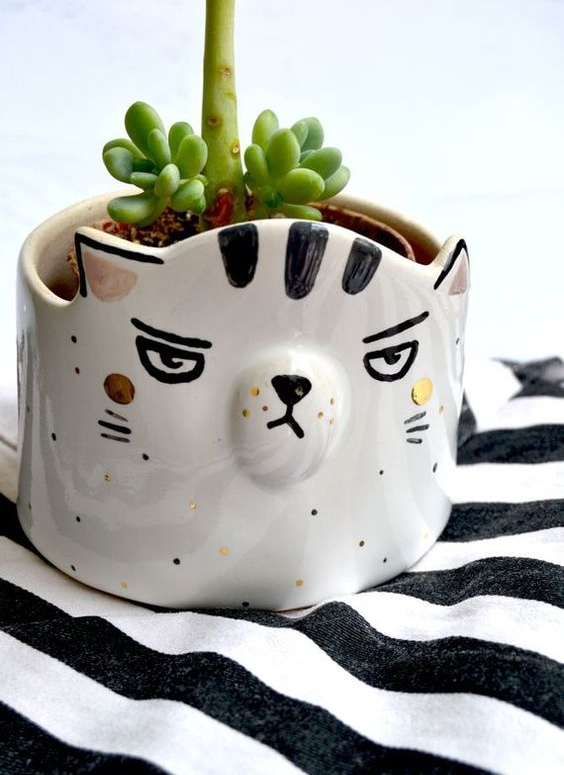 Cat Planter, Grumpy Cat