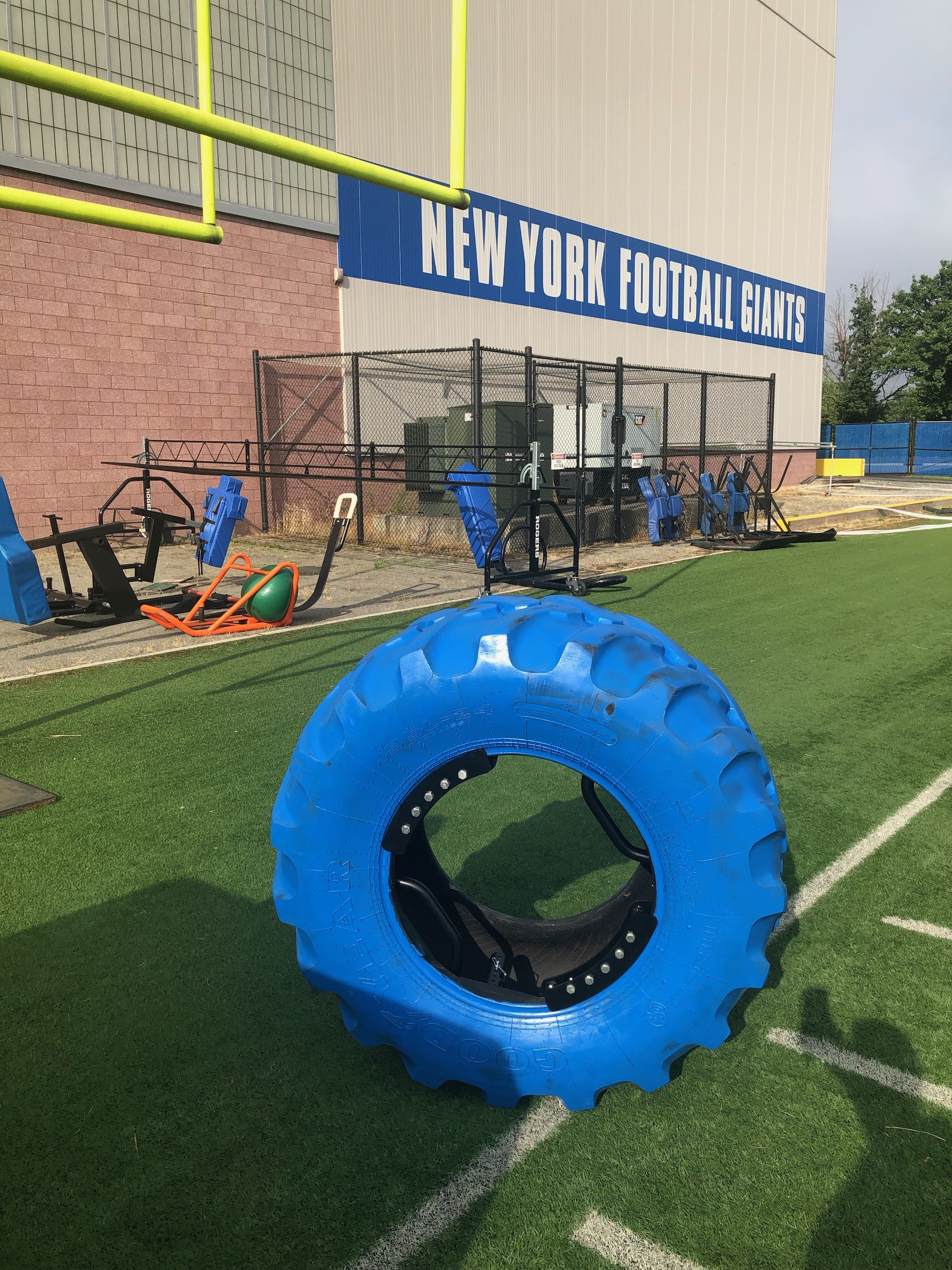 the tire iron at New York giants training facility