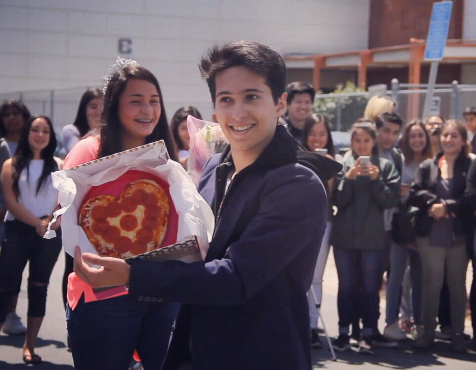 Dance Promposal 2016  Ultimate dance performance at Cleveland High School, Reseda.  We just surpassed 100K views on Youtube! Click on the pizza to watch the whole thing!