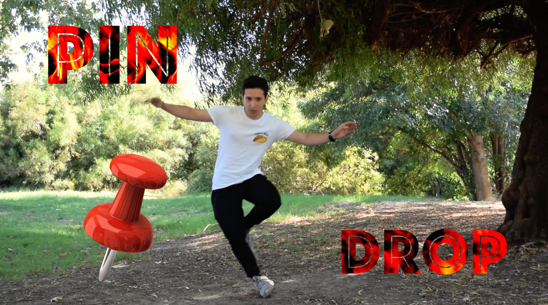 Breakdance Move / Dance Trick - PIN DROP (TUTORIAL)   A detailed breakdown of one of my favorite moves, the Pin Drop. I've used this move in a bunch of my dance videos.  Click anywhere on the picture to get directed to youtube.