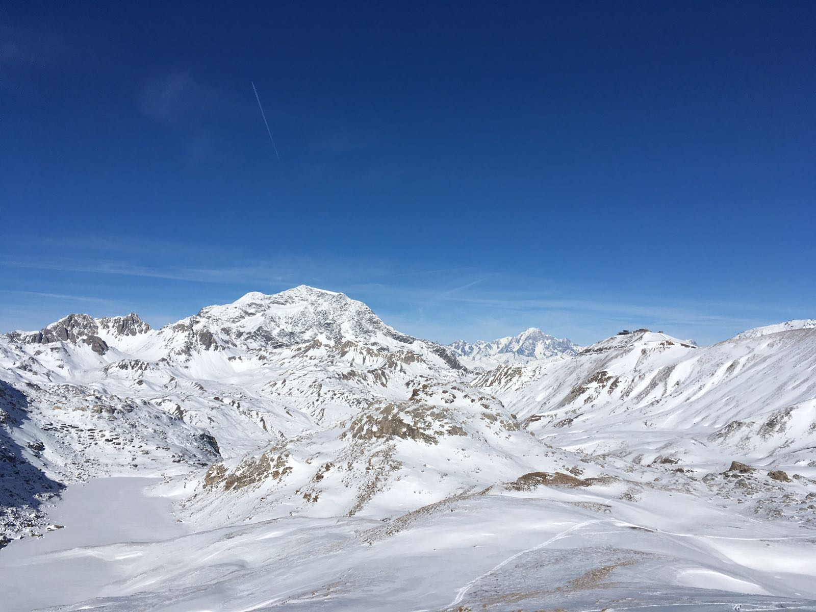 View of Tignes ski area these recent days