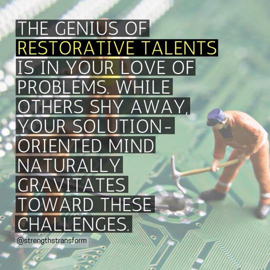 StrengthsFinder Singapore - Restorative - Genius
