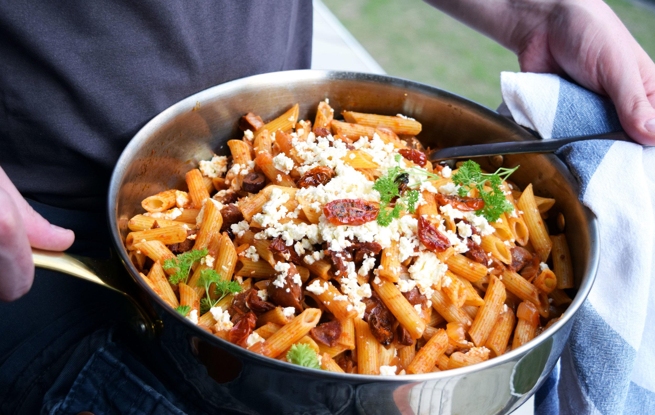 Chorizo and Tomato Penne