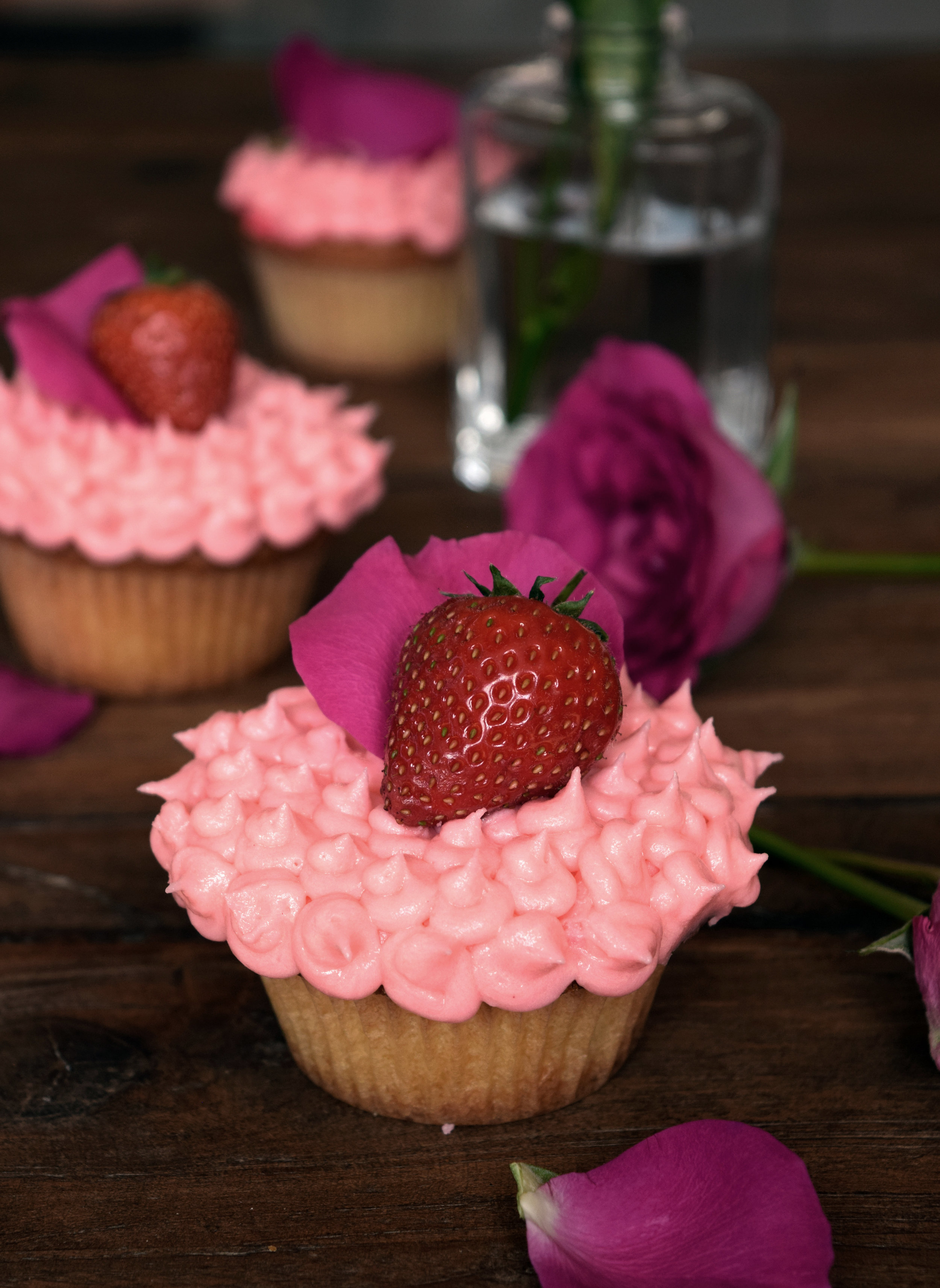 Pretty in Pink - Strawberry Rose Cupcakes