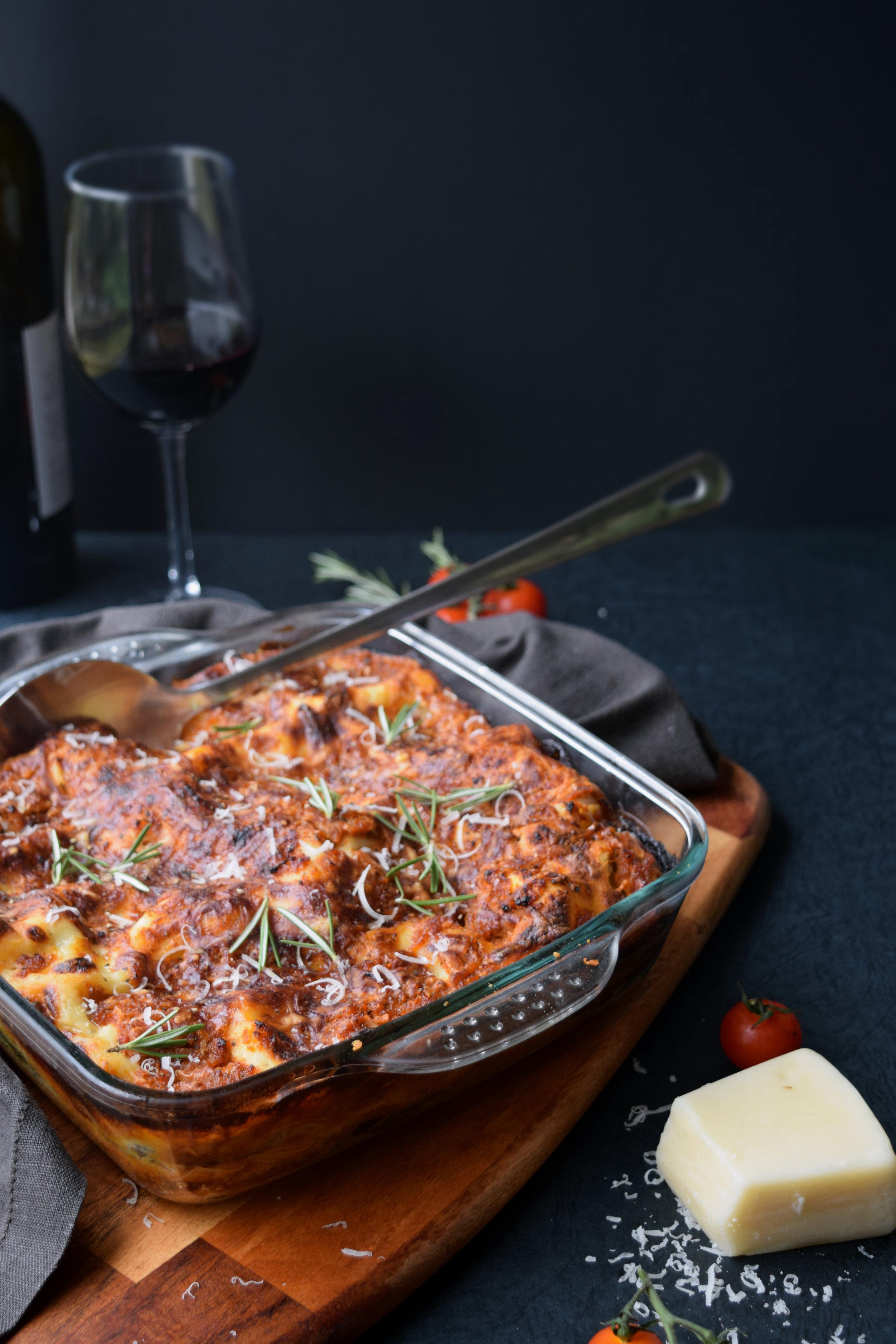 Vegetable lasagne with my Hidden Veg Tomato Sauce