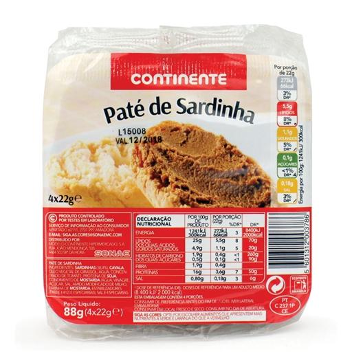 Paté de Sardinha - Continente
