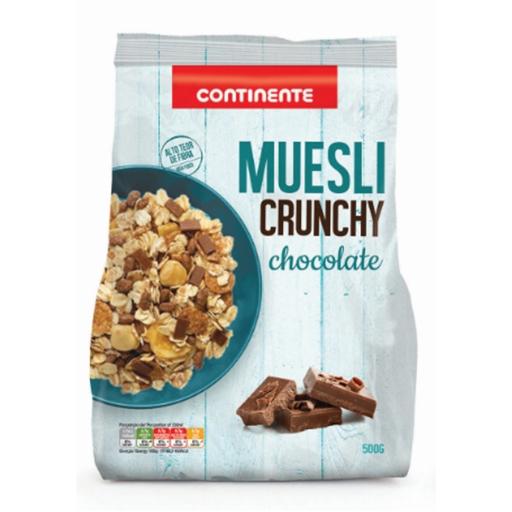 CRUNCHY  MUESLI CHOCOLATE  CNT 500GR