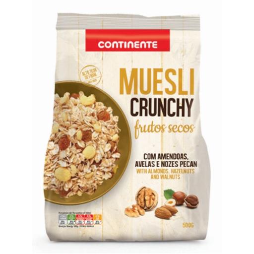 CRUNCHY  MUESLI W/NUTS  CNT  500GR
