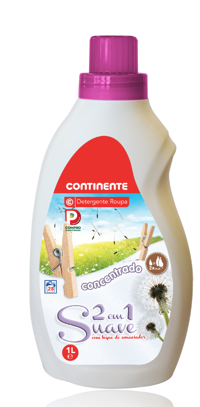 CONCENTRATED DETERGENT  SOFT  2IN1 CONTINENTE  28W