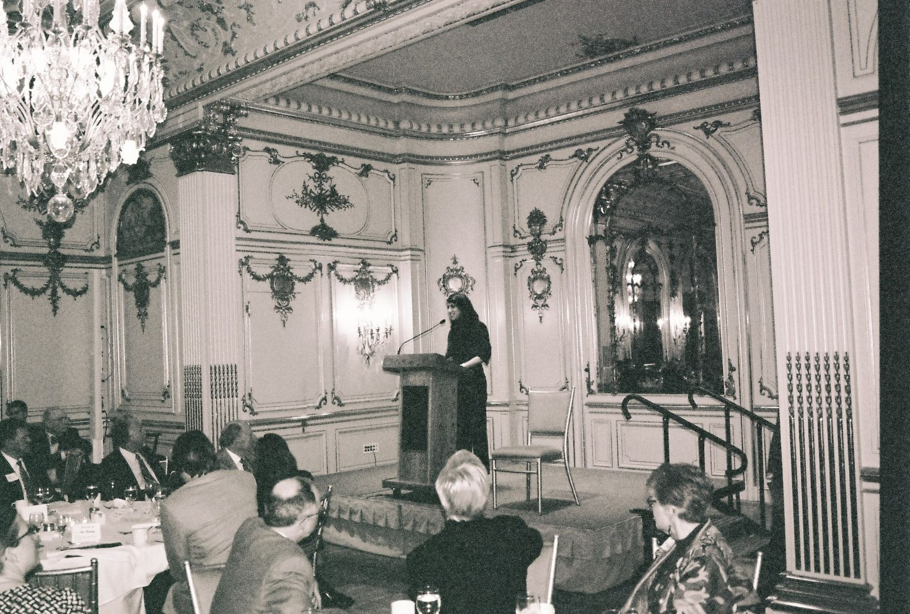 Speaking at the Cosmos Club in Washington, D.C. after having won an award to conduct Post-Soviet Graffiti research in Russia during the 2012 Presidential Election.