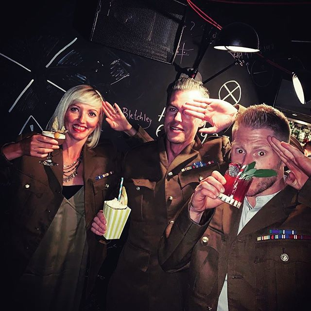 Agent enjoying the rewards of their hard work.  @london_hellsbells The birthday that keeps on giving!! Thank you @macleode1 @beth_macleod_ 🕵🏻‍♀️🕵🏻‍♂️ #spydrinks #thebletchley #cryptic #bombdefusal #enigma #ww2 #chelsea #london