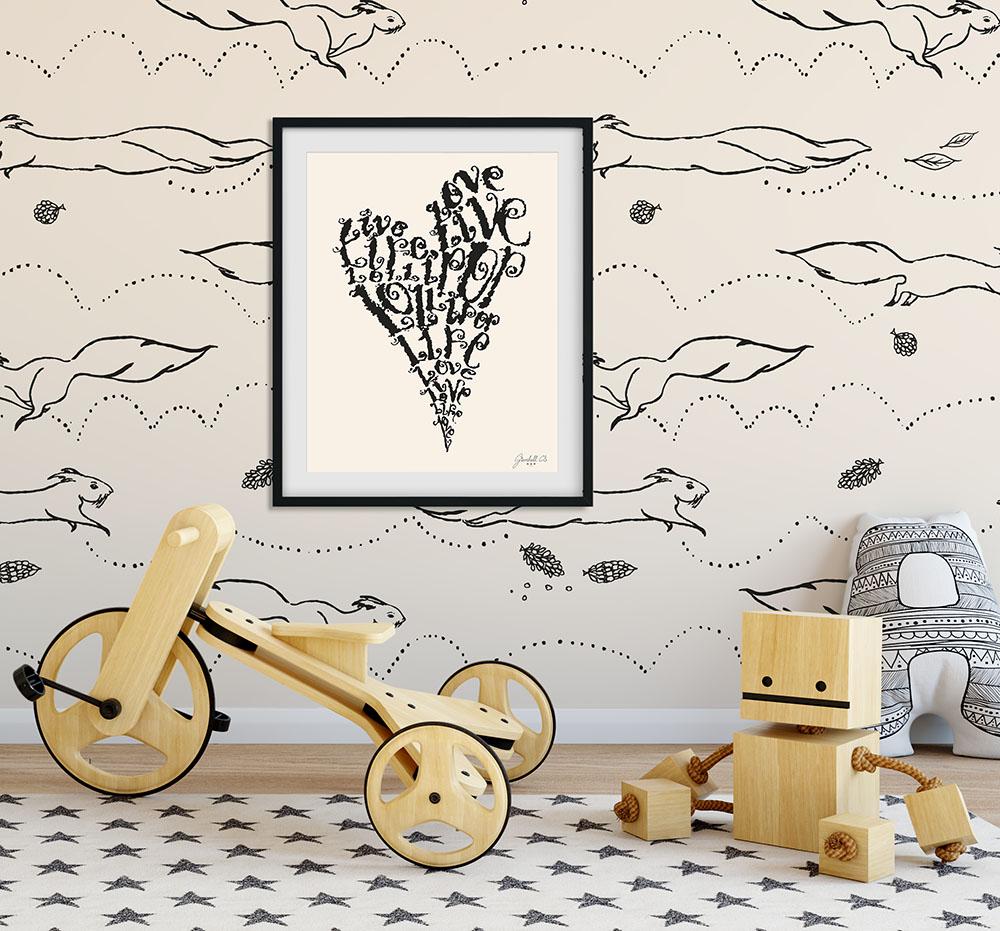 FourL (Live, Love, Life, Lollipop)   A personal illustration for Grovehill Creative Studio brand Hento Design®.  More about Hento Design®..