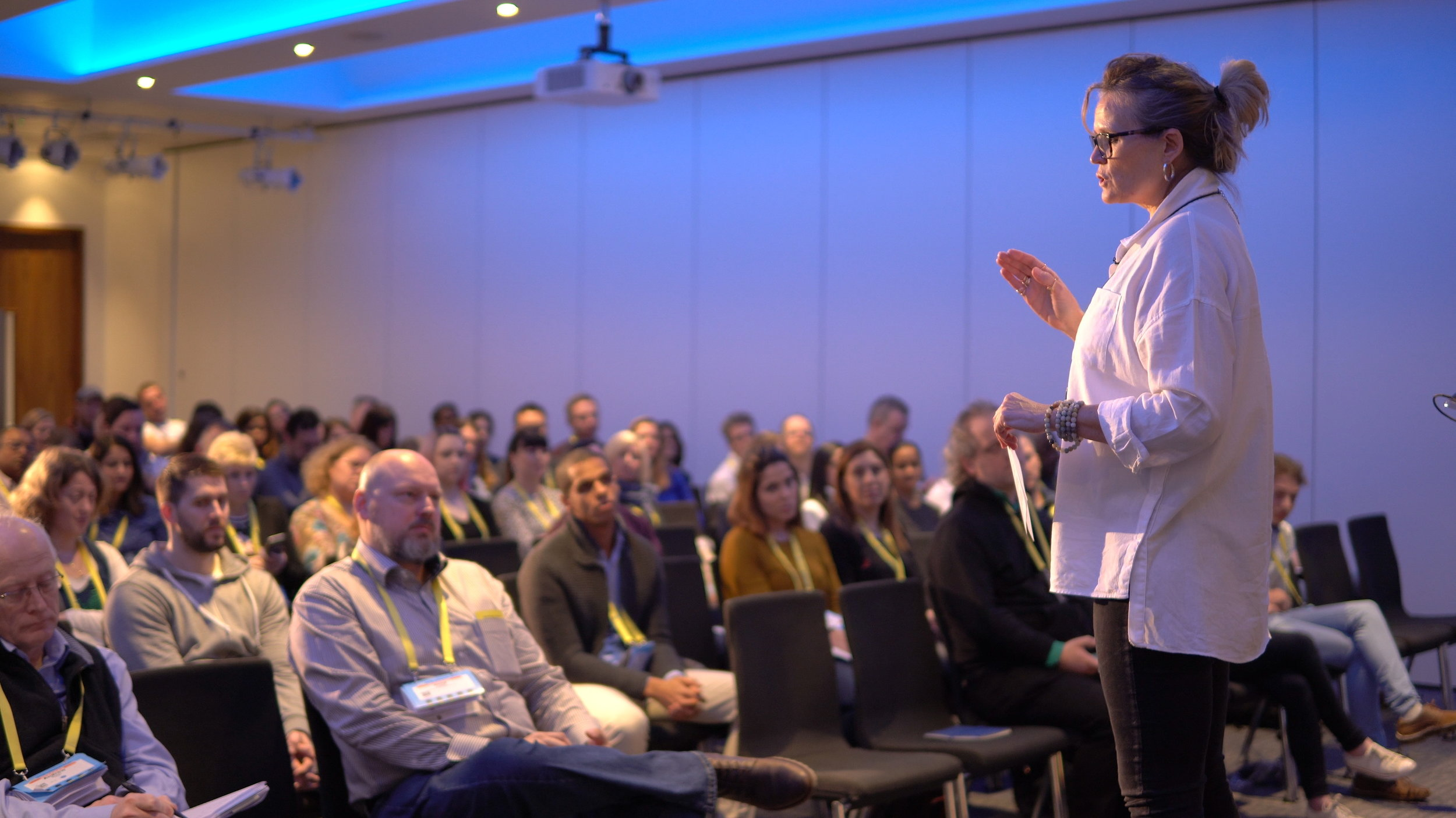 "On stage at UKSTAR's London Conference - March 2018 - delivering my ""Life Testing and Leaps of Faith"" workshop"