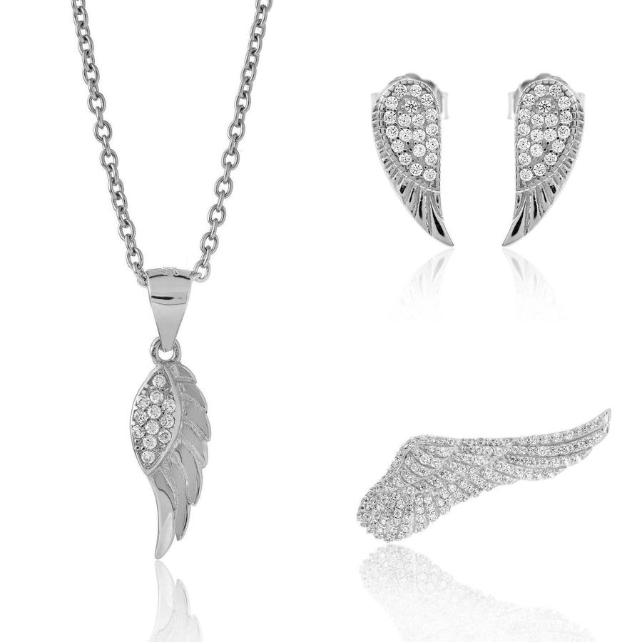 Angel Wing Jewellery Set RRP £95 @  Fiyah Jewellery