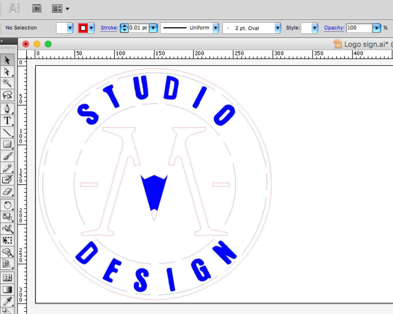 Illustrator file in RGB colour mode.
