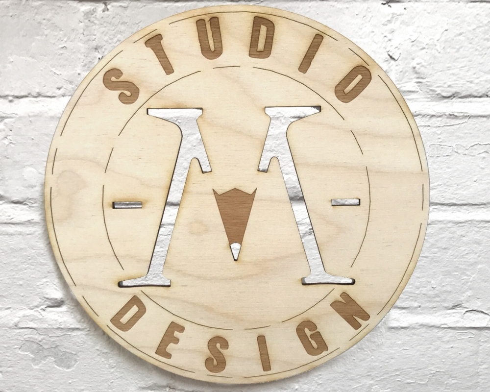 Laser cut signage in 3mm sustainable birch Plywood.