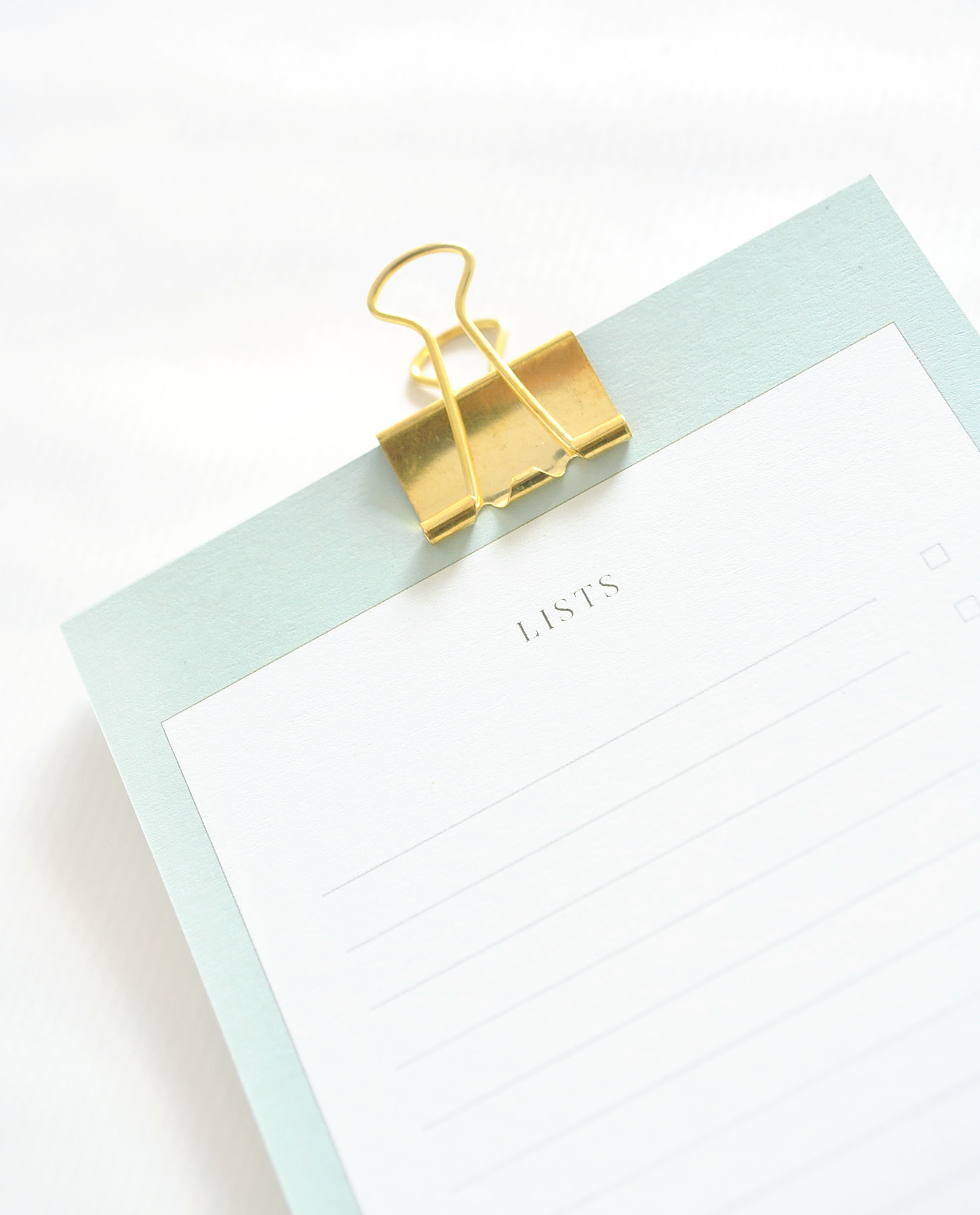 List Paper  £5.00