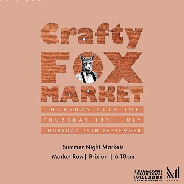 See you tonight!! :D - Catch me and the lovely @josephinekibuka tonight @craftyfoxmarket selling my totes fab stationery collection!! 6-10pm⠀ @brixton.village