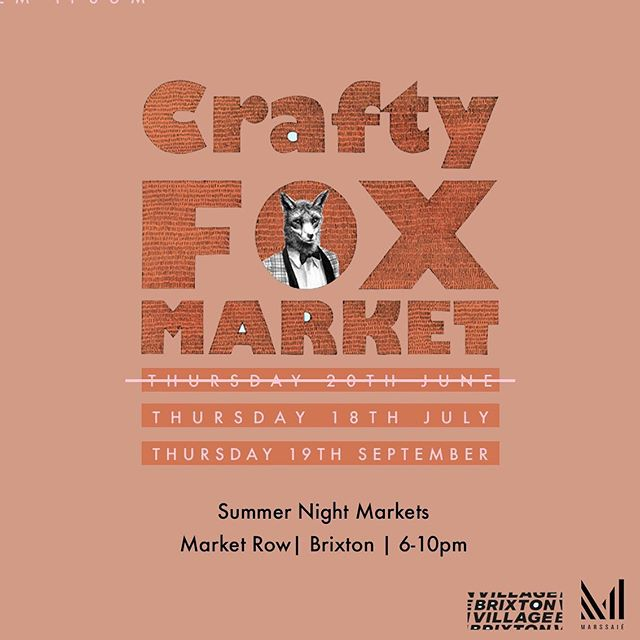 Catch me TONIGHT!! at par deux of the @craftyfox Brixton summer markets.⠀ ⠀ You can finally cop some of the stationery I designed 😌