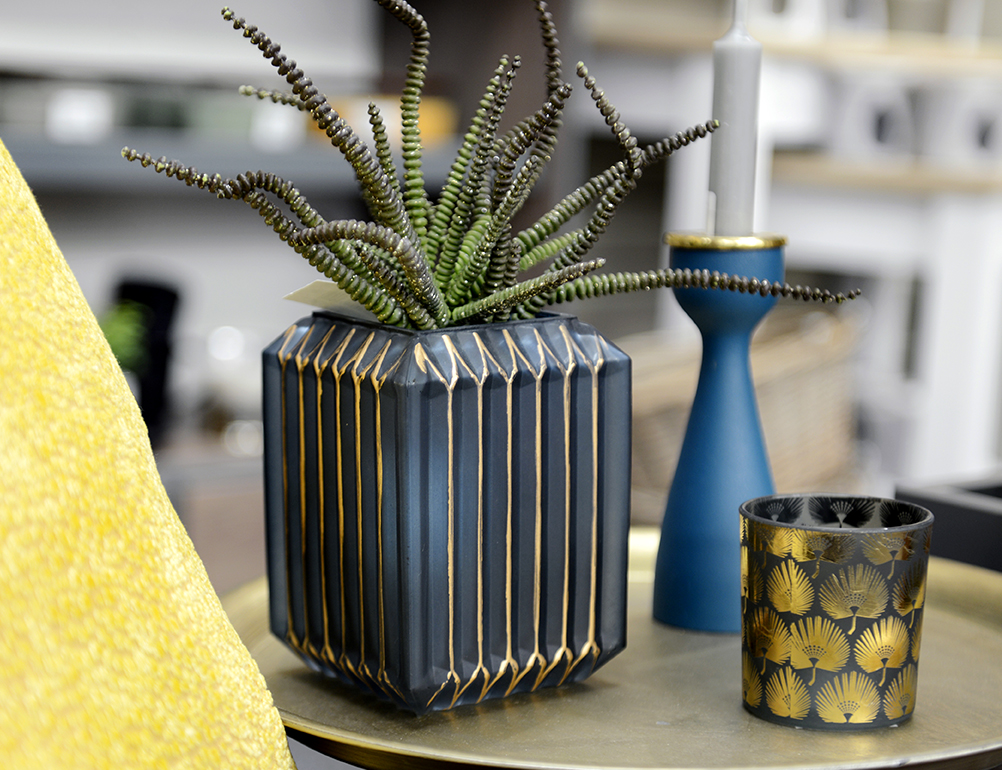 Be bold with blue and gold. - Make a statement with a pop of your favourite colour in your home- it's an easy way to add character! We have lots of style suggestions in store put together by our inspirational team!