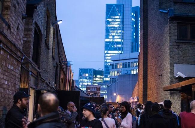 London venue with outdoor space courtyard