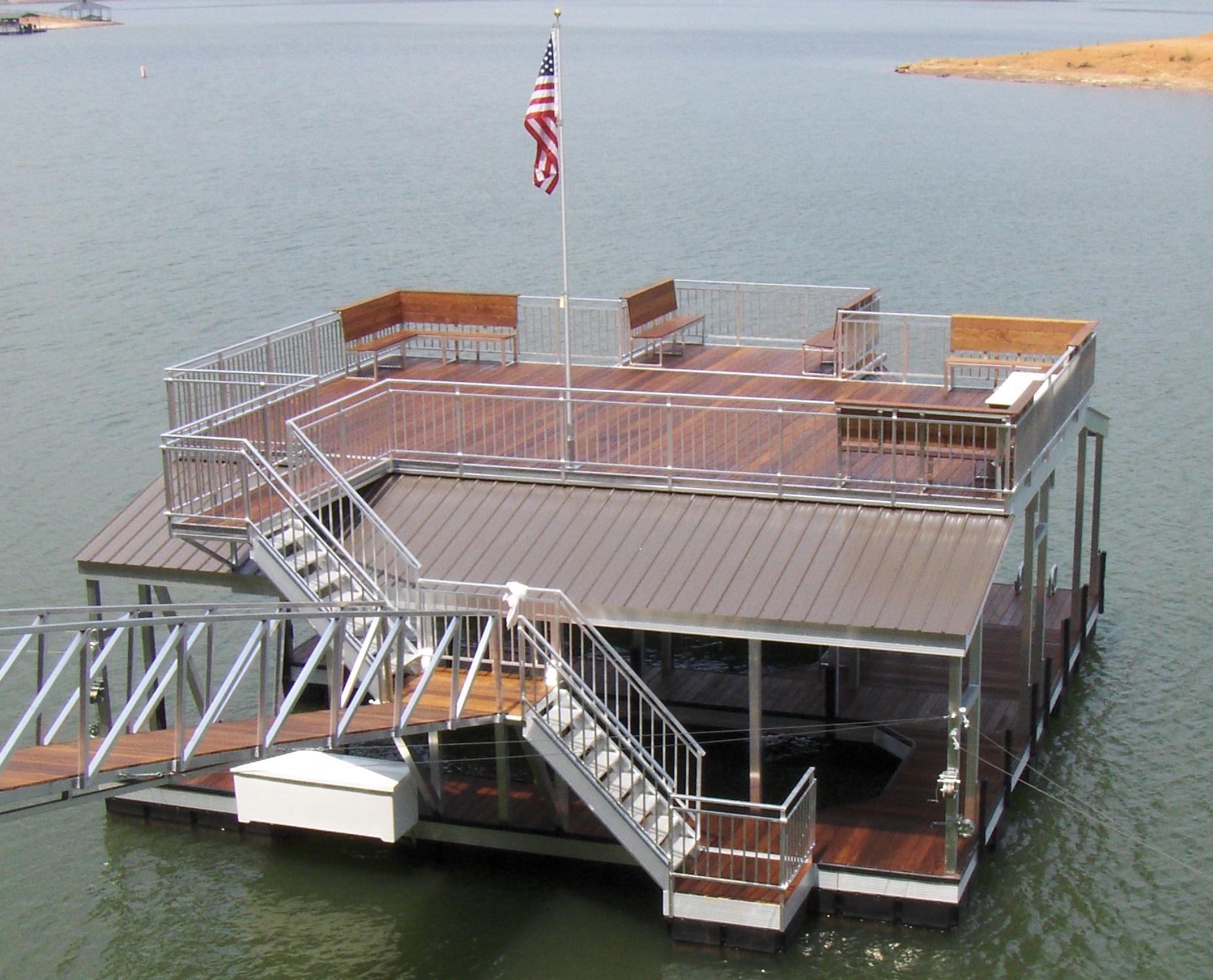 Martin Gable Roof Sundeck Aluminum Dock