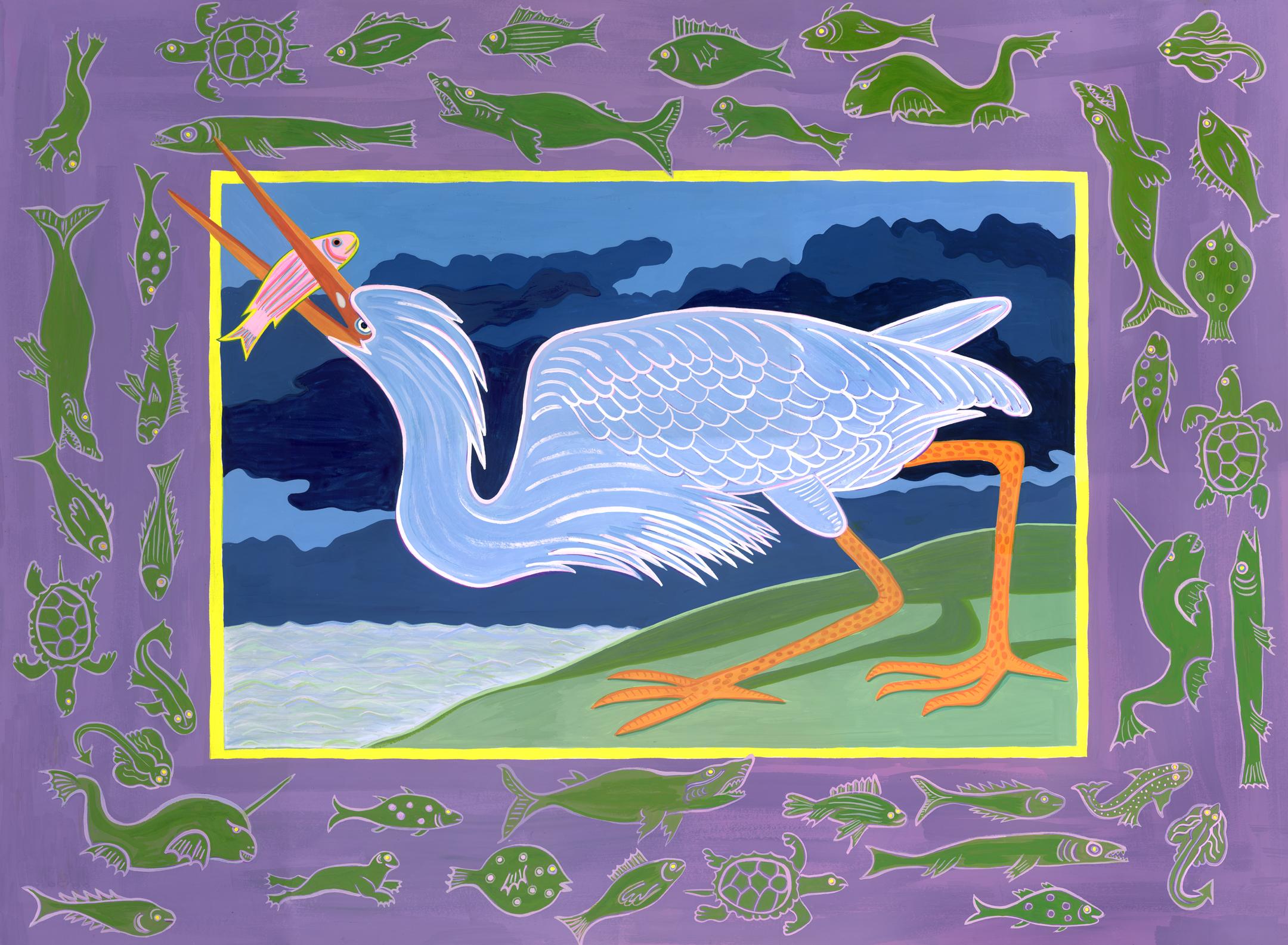 Audubon Series , Blue Heron