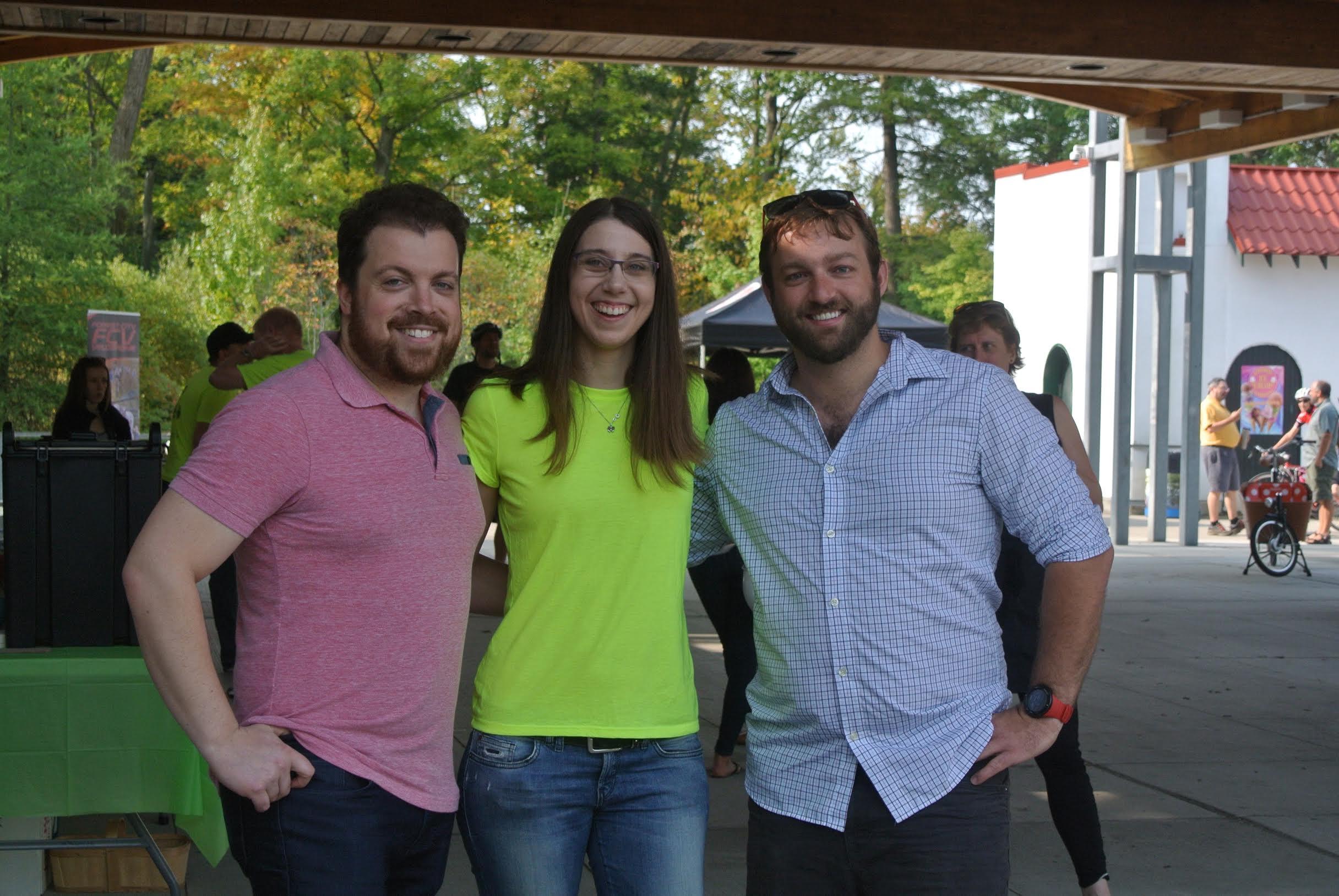 Jared, Joy, and I at Bikes N Brains 2017.