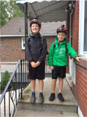 Kids ready for commute