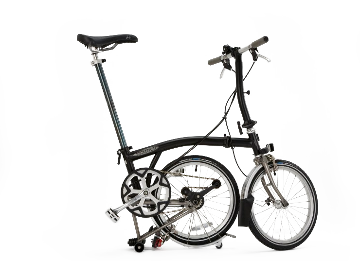 Brompton Folding Bicycle Parked