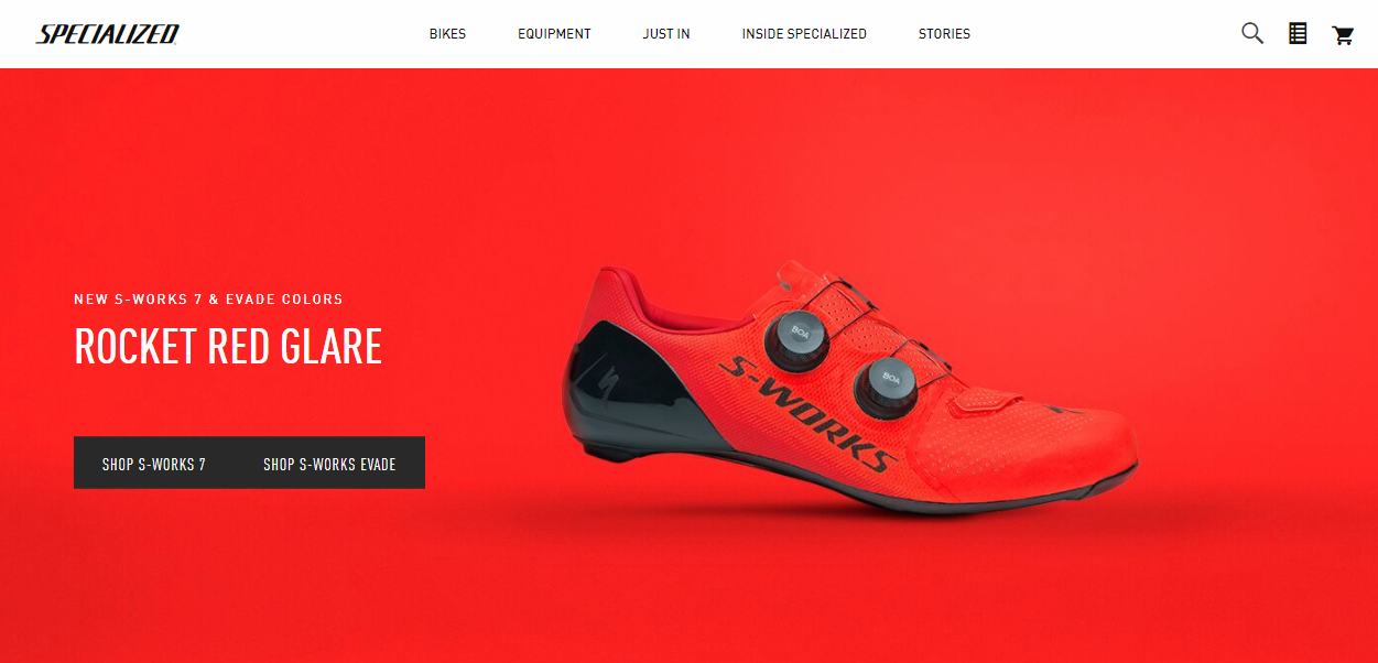 Specialized homepage