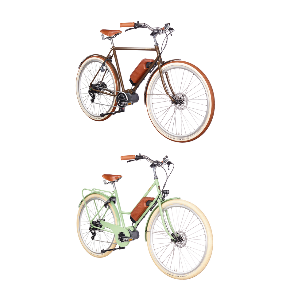 Achielle Electric - Special Order   An electric bicycle needs to provide appropriate support, have good range, and be reliable as well as easy to maintain. However, we tend to forget that such a bike can also be beautiful and elegant. Ernest & Emma are high-quality electric bicycles with the typical Achielle appearance. The ingenious Shimano pedal-assist system supports you in a natural manner and is easy and intuitive to use. Internal Alfine 8-speed hub gear with Di2 changes gears electronically and automatically.  Cycling has never been so pleasant and simple.