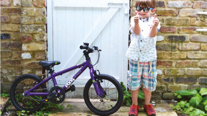Frog Bike Demo Models   Just in time for back-to-school, our Frog Bike demo bikes are only sale for 20% off each model. We have several sizes/colours remaining, call for availability.  Frog Bikes are high quality children's bikes designed and built in Great Britain. Frog Bikes set about re-designing kids' bikes, creating a light but strong aluminum frame, and hand-picking high-quality components to make it easy for children to pick up a bike and ride. Their frames are designed for a child's geometry (which is different than a small adult!) and are easier to pedal due to a unique crank design. The new crank reduces space between the pedals, allowing children to push more directly down when cycling, converting more of their energy into motion.  Only Frog applies this level of rigor to the design of kids' bikes, and we're proud to feature them in our store.