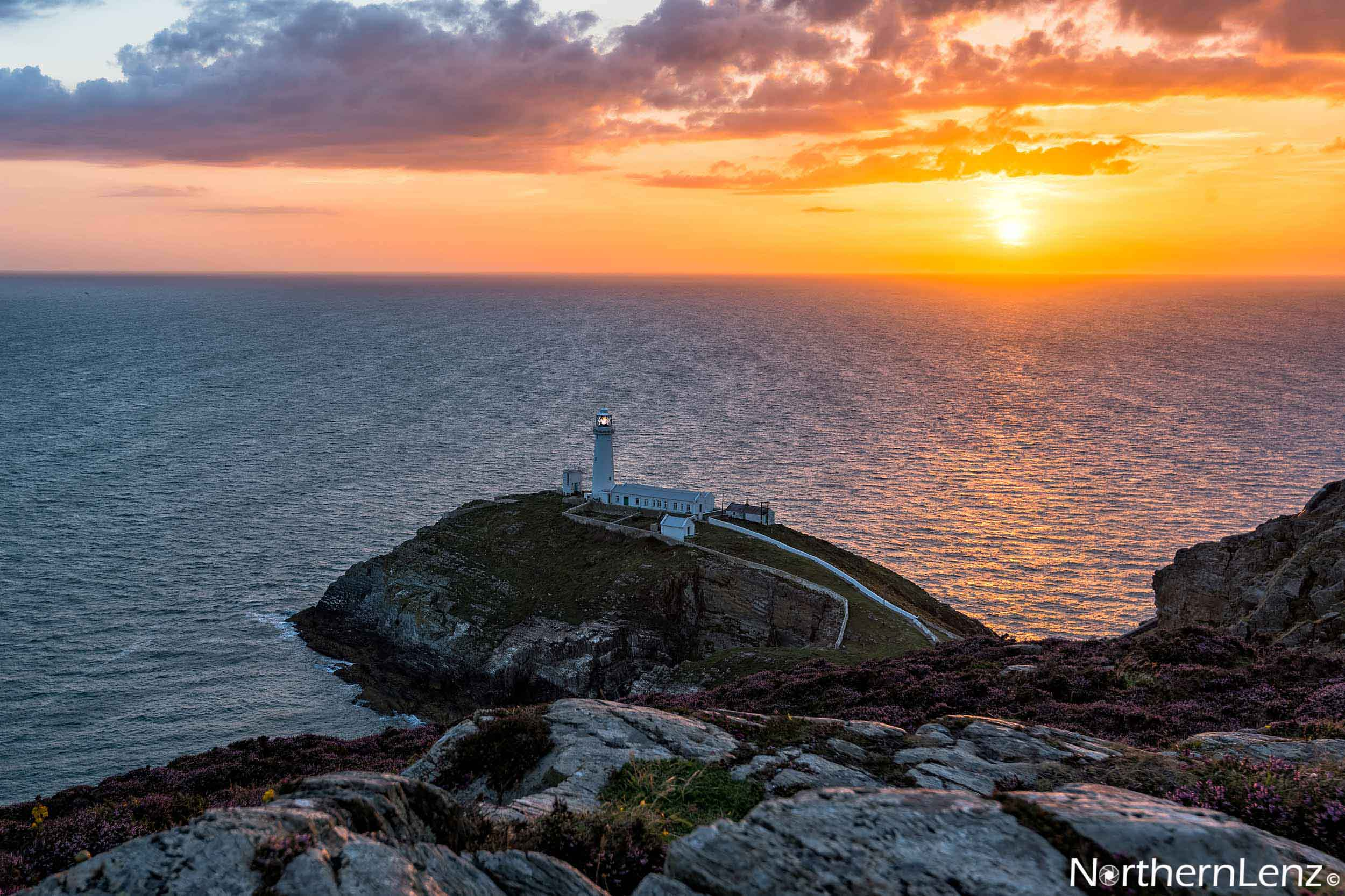 Beautiful sunset at South Stack, Anglesey  Image Ref: AS01