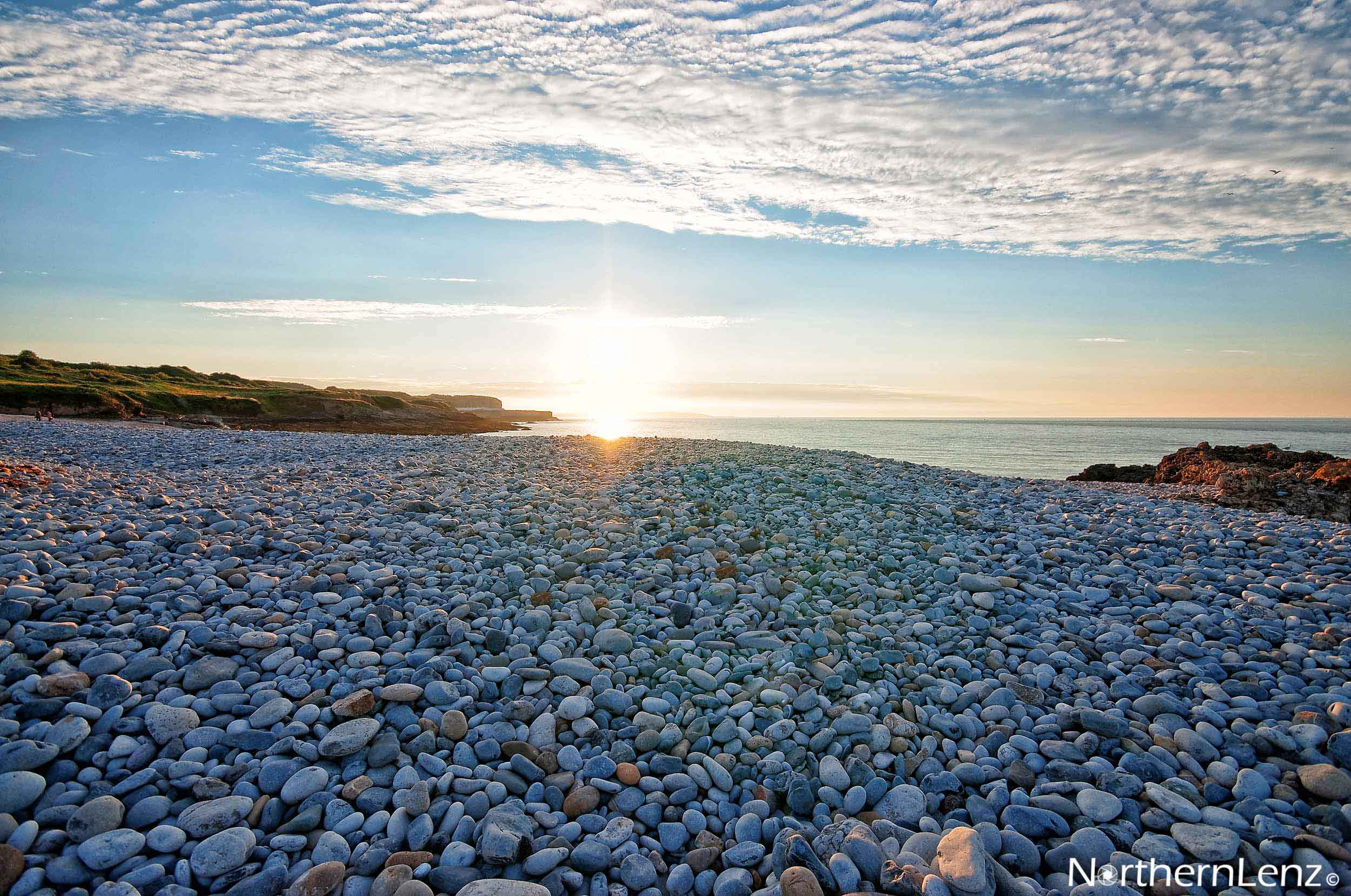 Sunlight shimmering of the pebbles  Image Ref: CC04