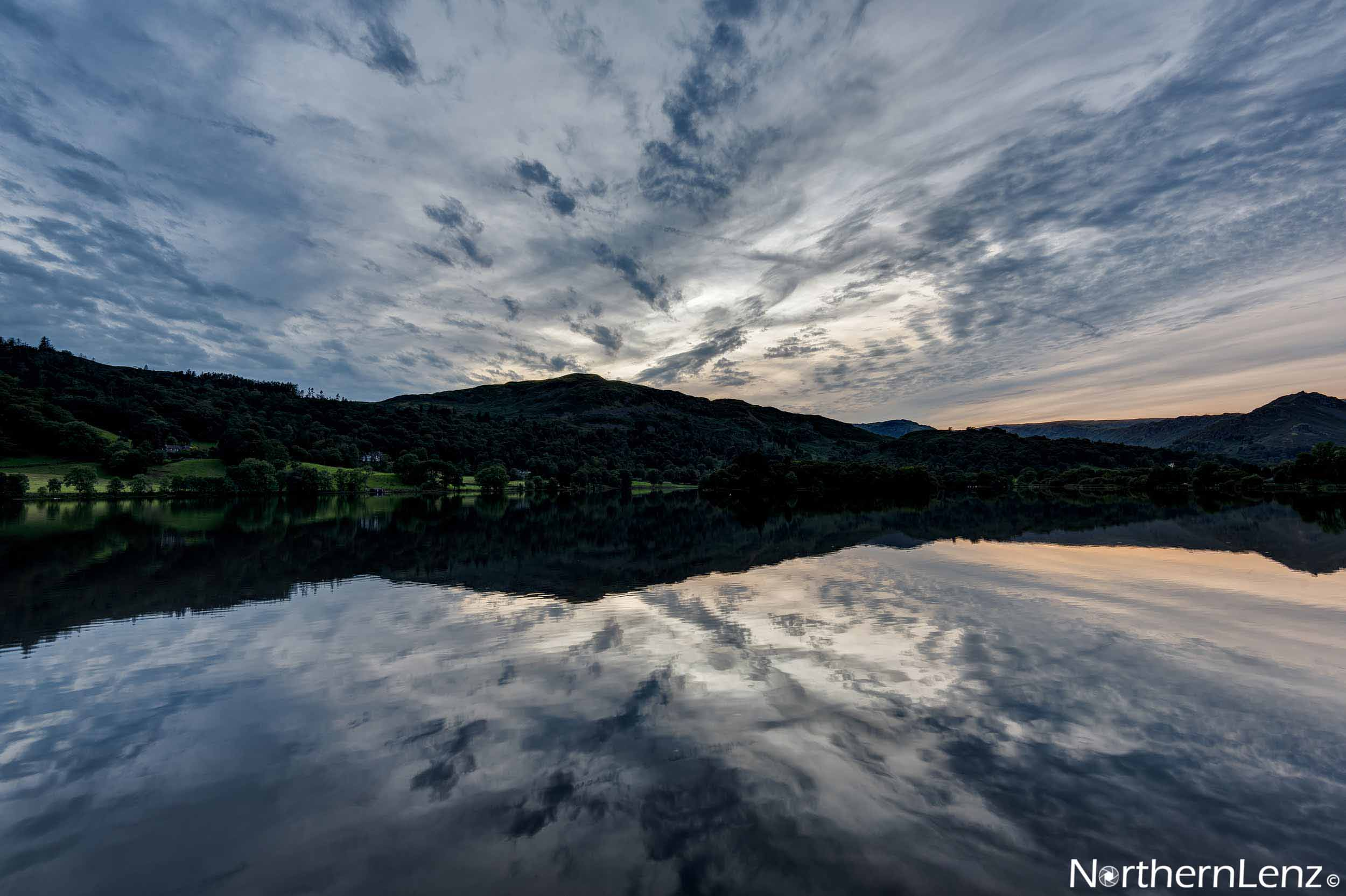 Blue hour at Grasmere, Cumbria  Image Ref: RP06