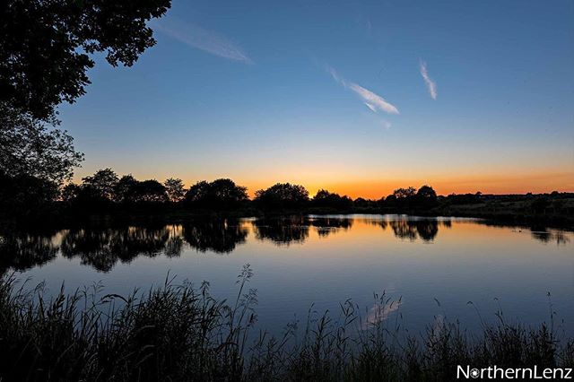 Sunset over Top Lodge Lake, Chorley