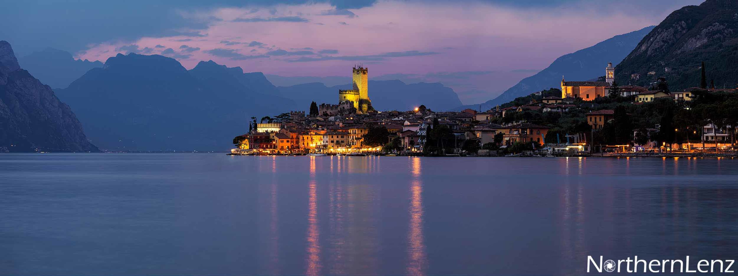 View of Malcesine, Lake Garda at dusk  Image Ref: WW06