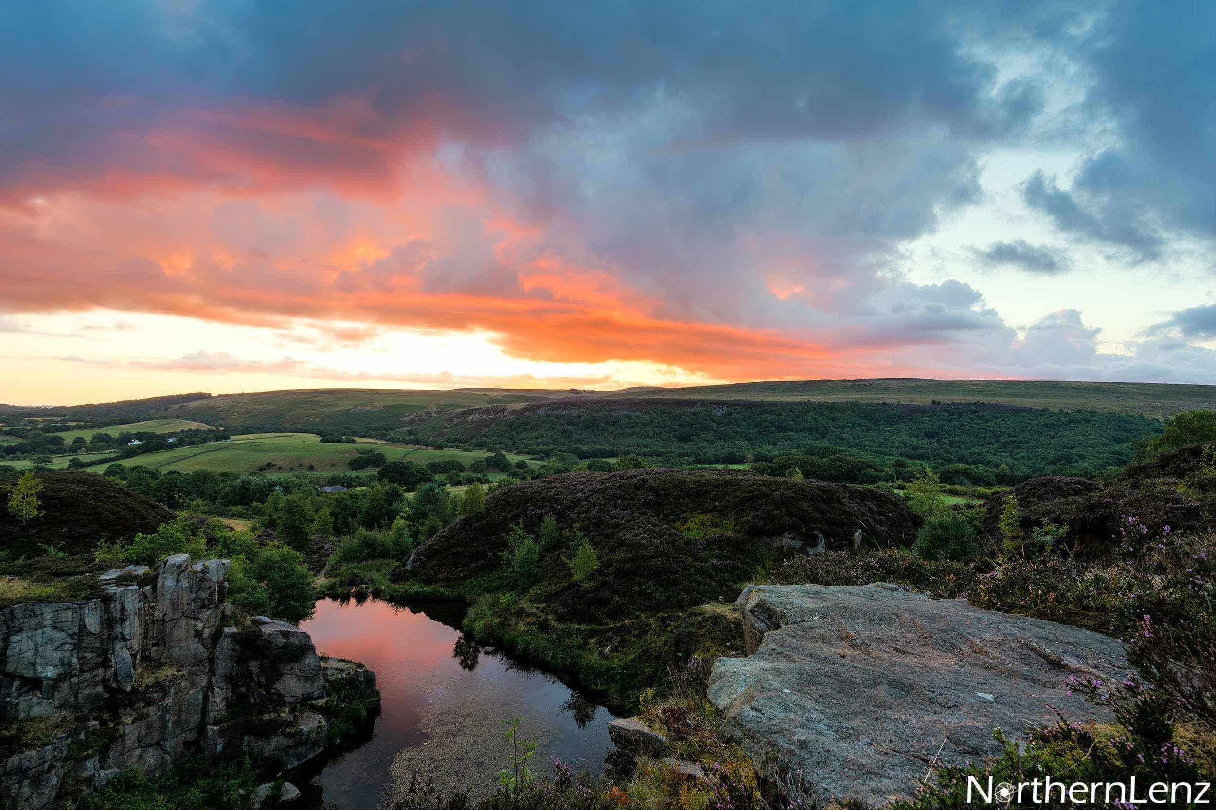 Healey Nab, Lancashire overlooking Blue Water at sunrise  Image Ref: LD10