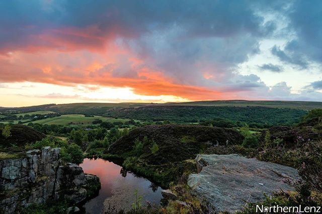 Healey Nab, Lancashire, over looking Blue Water at sunrise