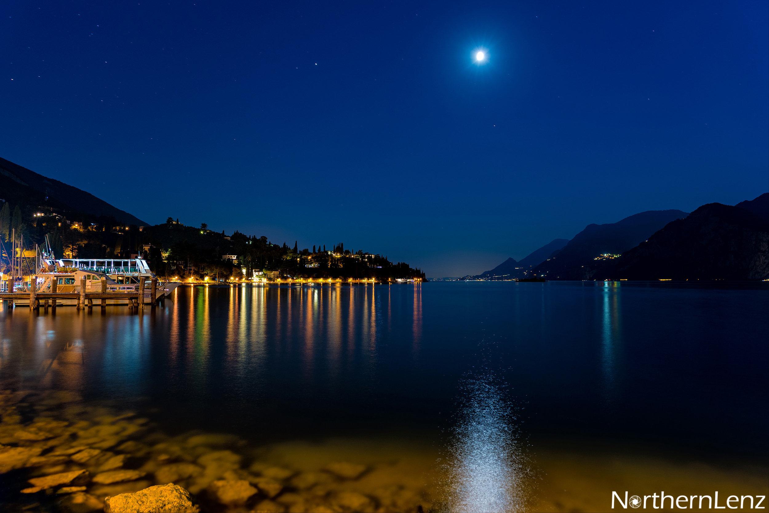 Moon reflection over Lake Garda  Image Ref: AS08