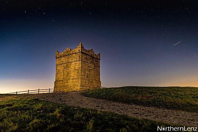 Rivington Pike under a starry sky