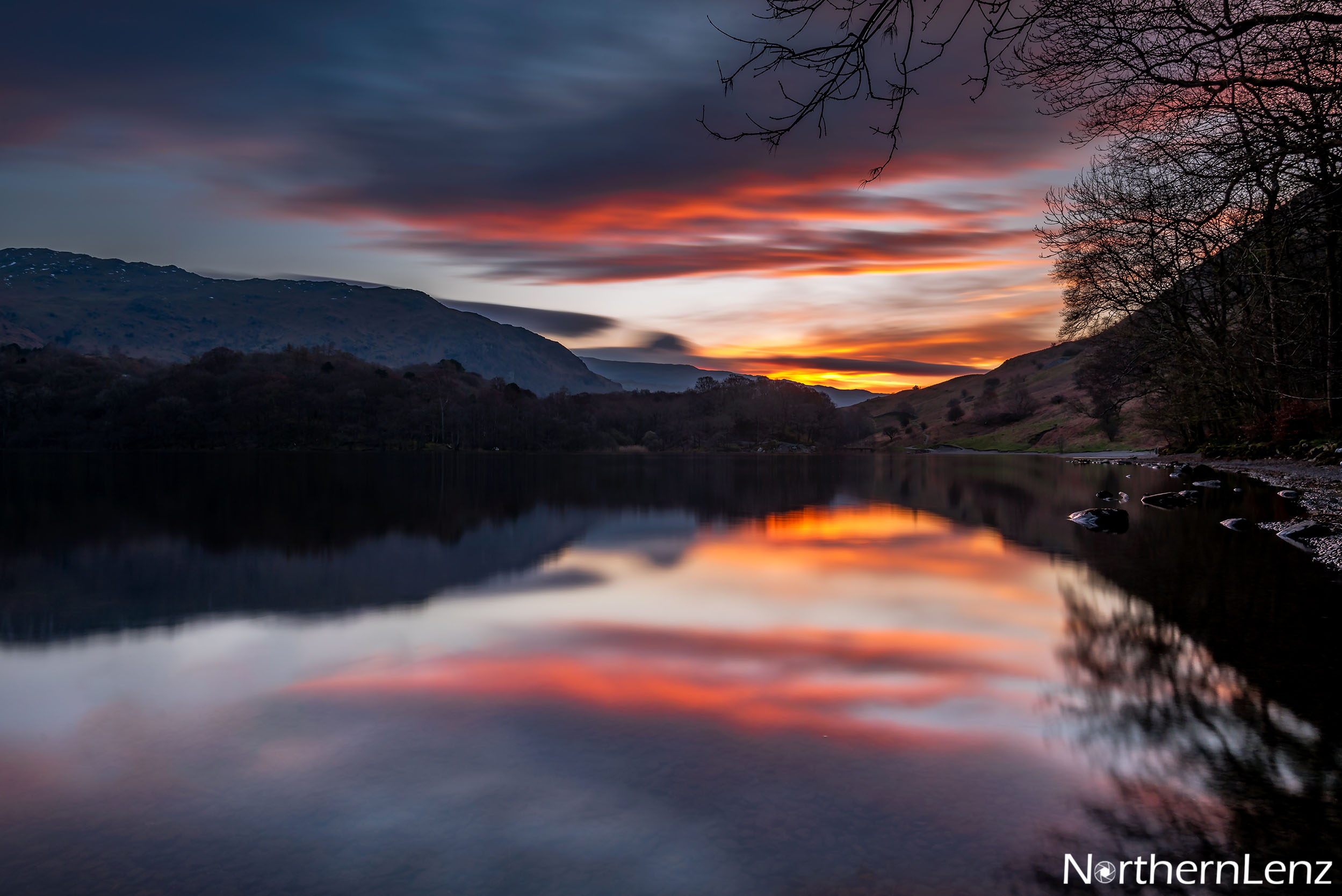 Tranquil scene at Grasmere wating for sunrise  Image Ref: AS10
