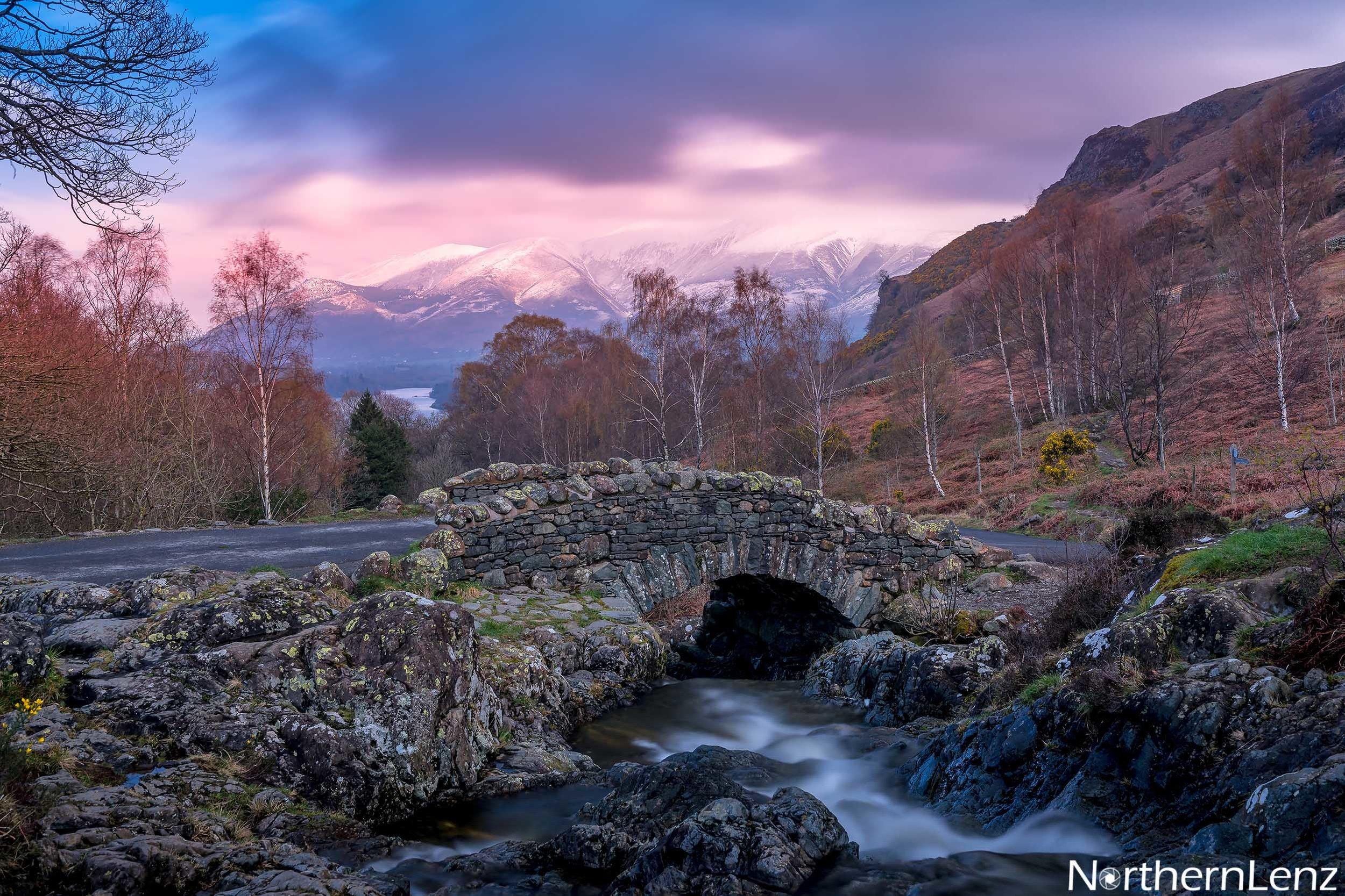 Picturesque Ashness Bridge en route to Watendlath Tarn  Image Ref: LD09