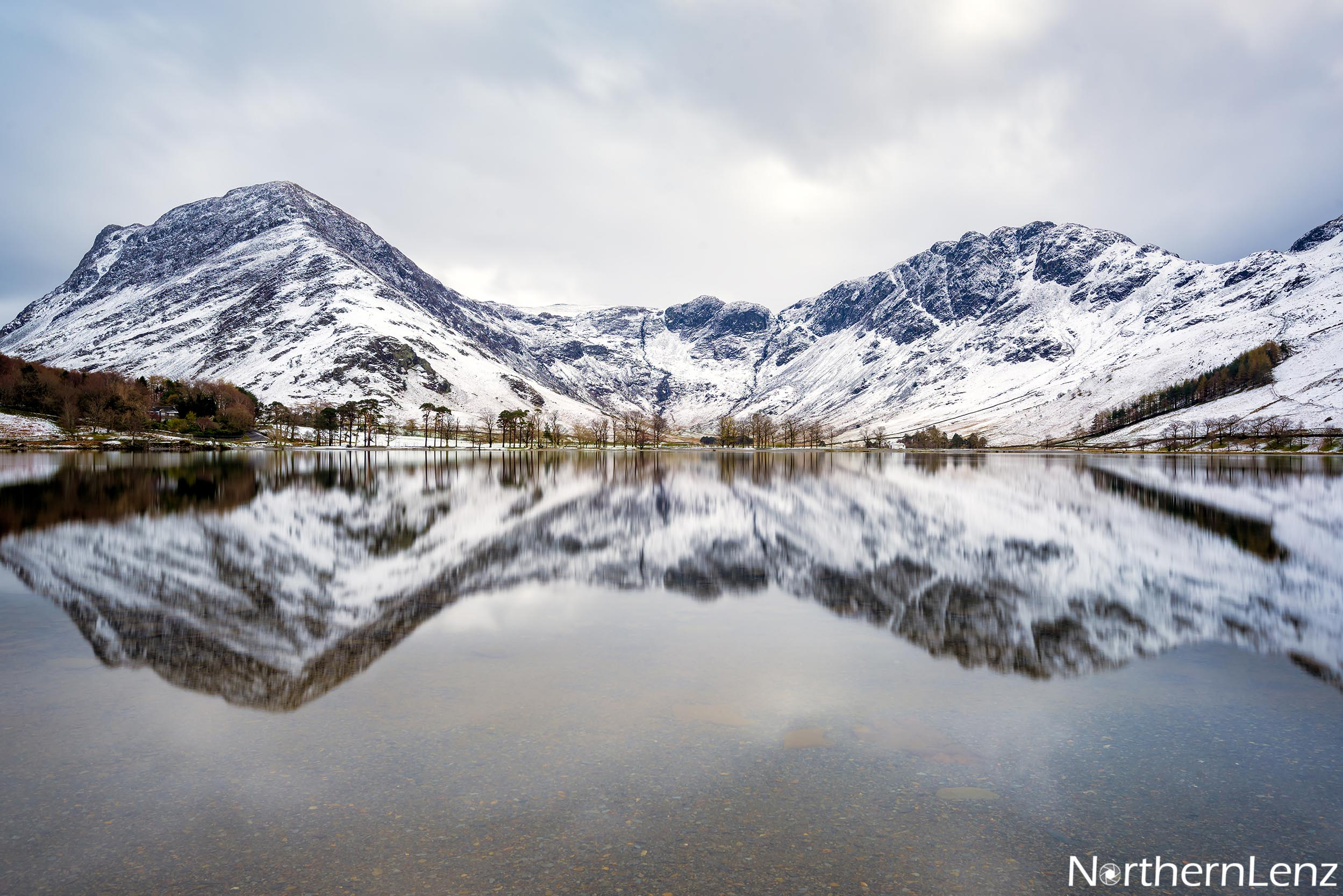 After some spring snow came the stillness at Buttermere  Image Ref: RP11