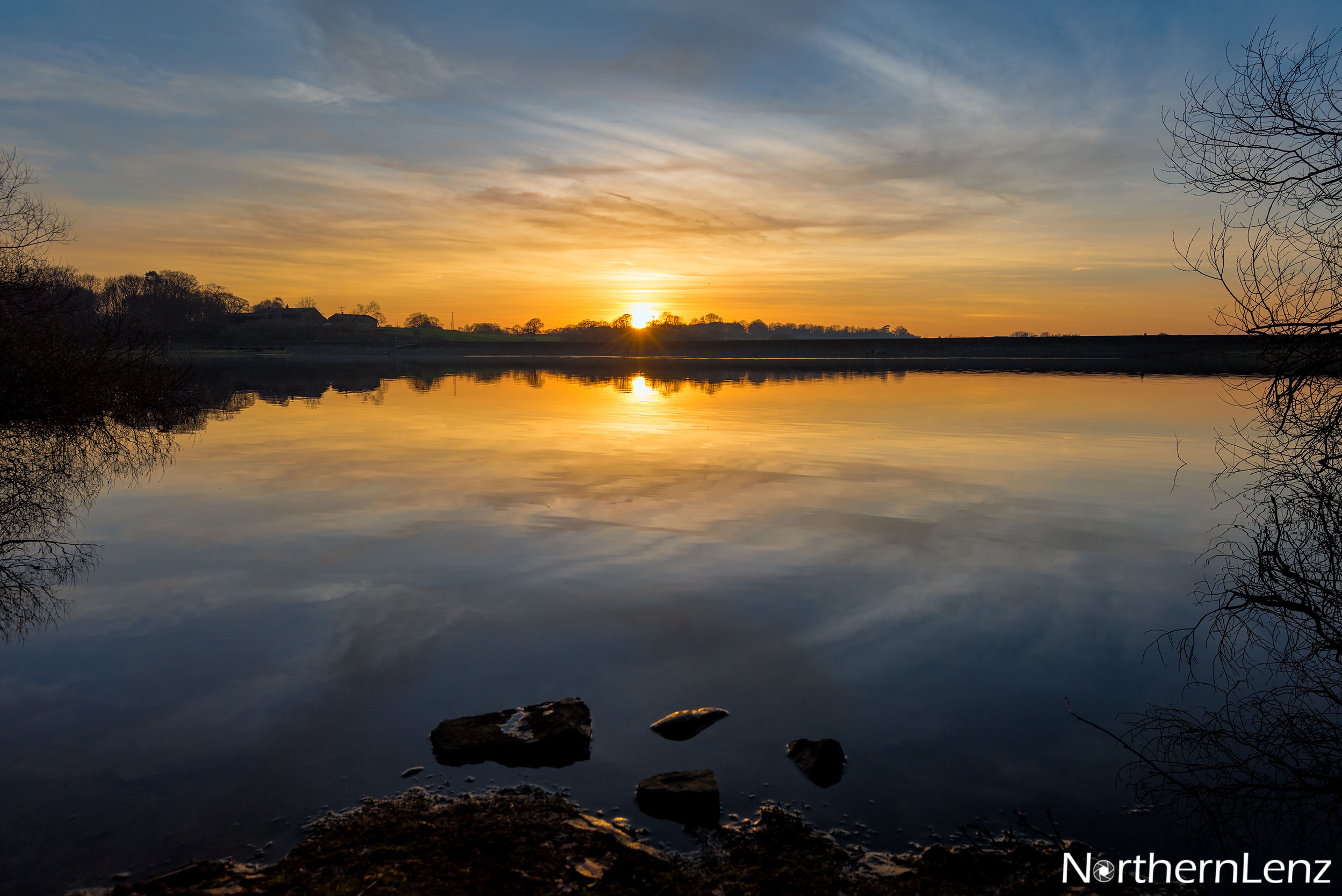 Another day comes to a close at Upper Rivington Reservoir  Image Ref: AS07