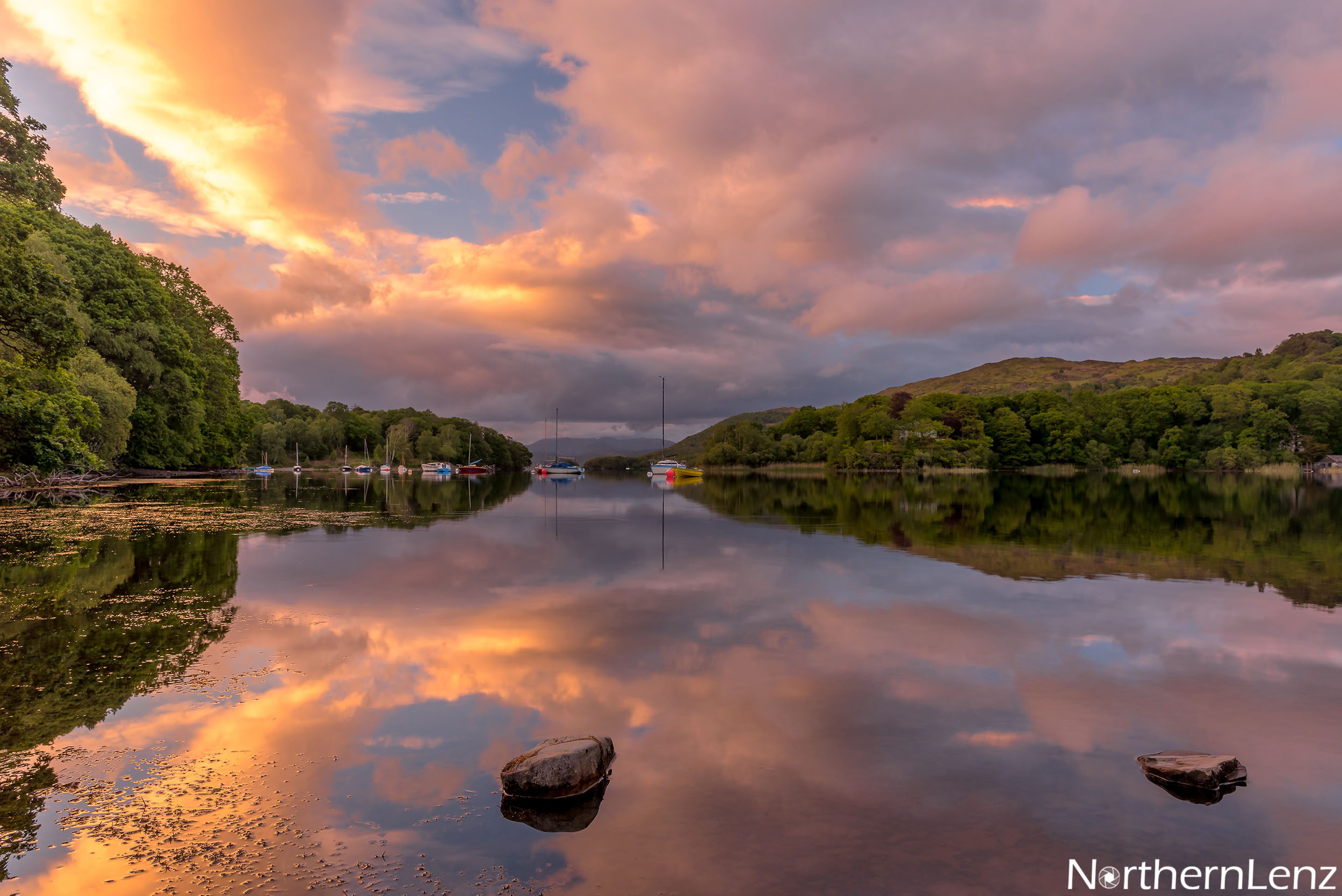 Magical sky at Coniston Water  Image Ref: AS11